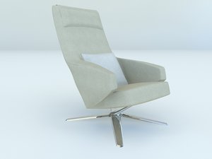 rotating arm chair 3d 3ds