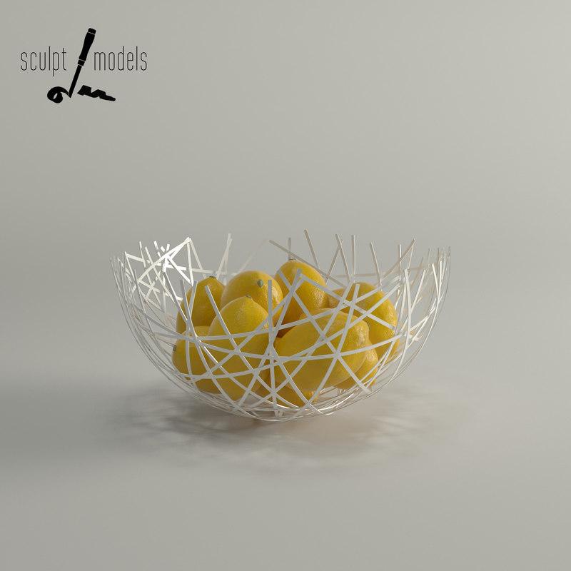 3d hatch bowl model