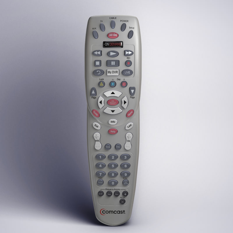 3d xfinity comcast remote t