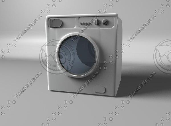 free washing machine 3d model
