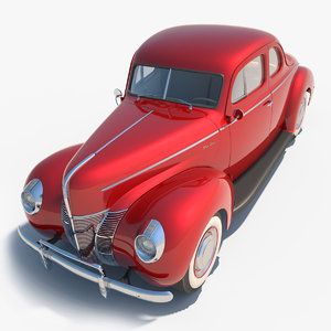 1940 40 coupe 3d max