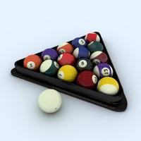 3d model balls triangle