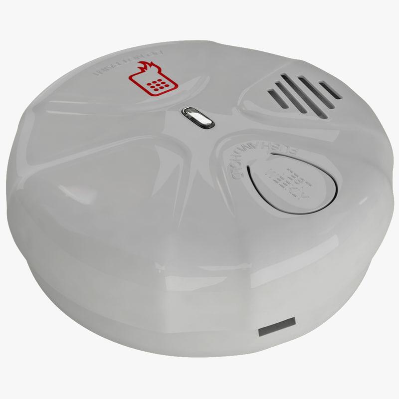 smoke detector 2 3d max