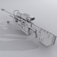 Sniper Rifle - Custom Design - Halo