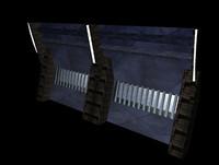space ship corridor 3d c4d