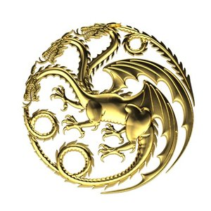 3d 3ds dragon pendant