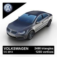 3d model 2013 volkswagen cc