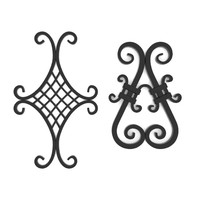 wrought iron elements obj