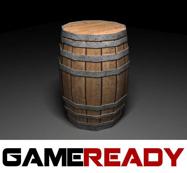wood barrel 3d max