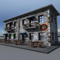 3d historical building