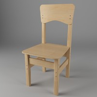 3d children chair
