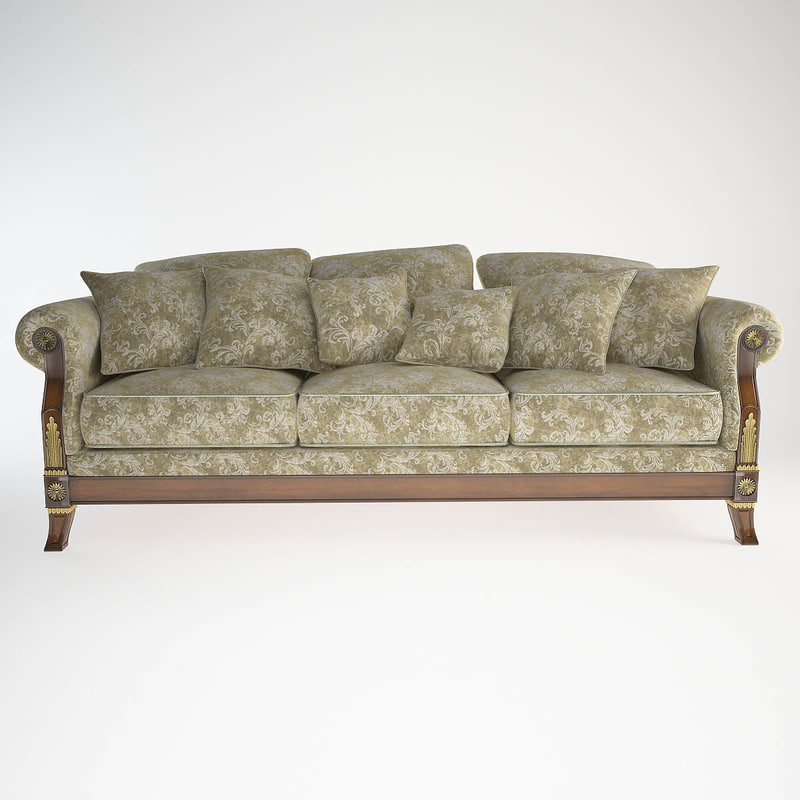 sofa 3 seat angelo cappellini 3d model
