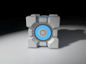 3d weighted storge cube portal model