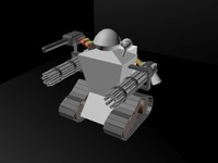 free military infantry drone 3d model