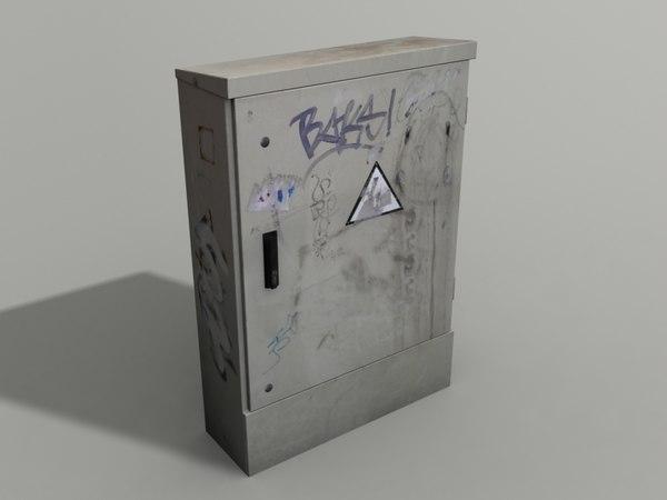 electricity box 3d 3ds