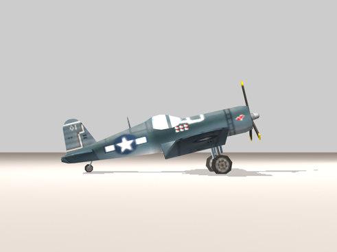 f4u corsair fighter 3d model