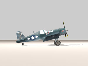 f4u corsair fighter 3d model