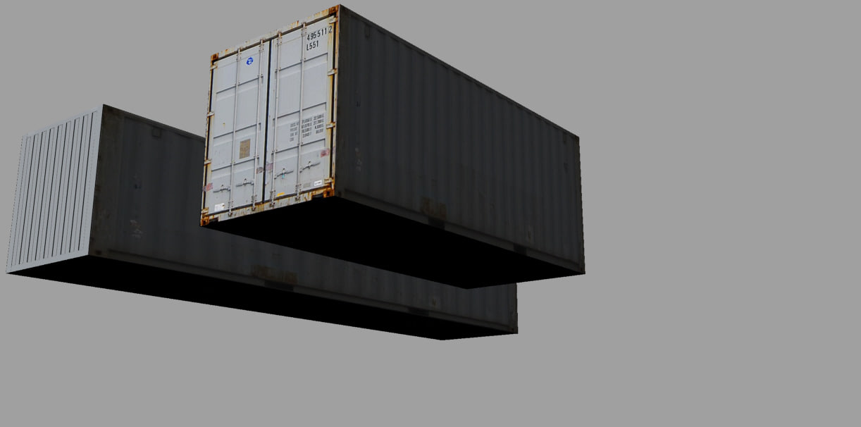 3d model of container teu 20ft