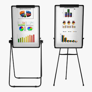 3ds max flip chart easel