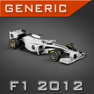 3d pk3d generic f1 2012 model
