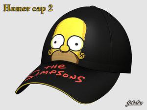 homer simpson cap 3d max