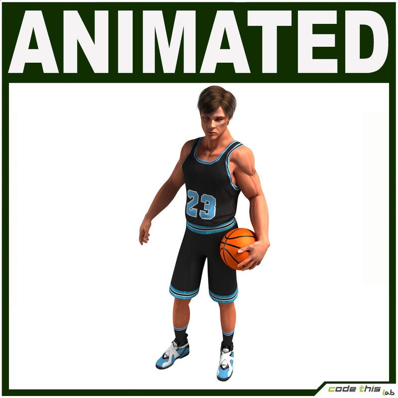 hi-poly basketball player cg max