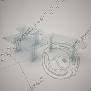 cattelan italia oslo glass table 3d 3ds