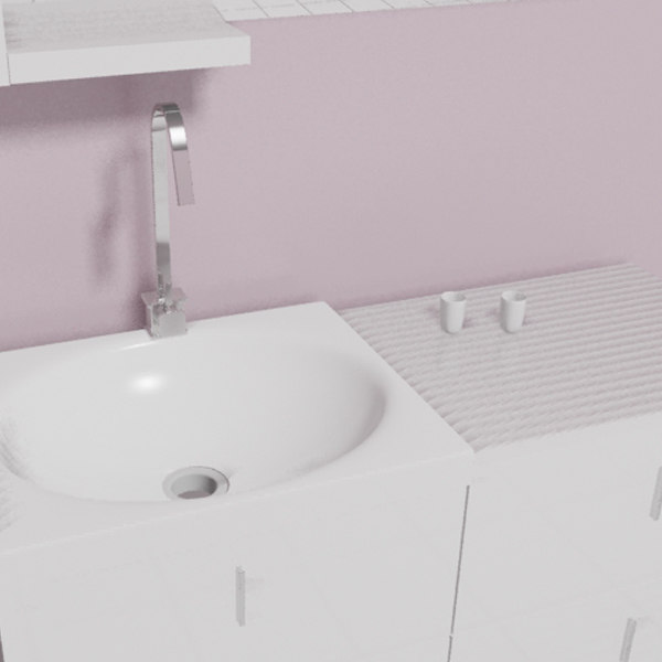 3d 3ds bathroom cabinet