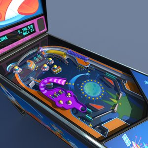 3d model pinball machine 02