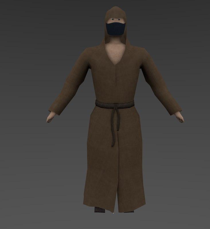 monk 3d obj