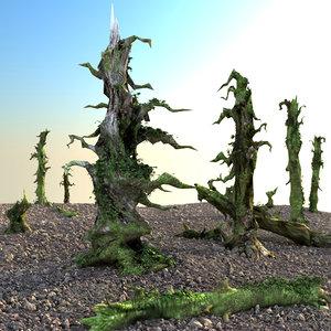 set dry trees 3d max