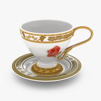 3d cup saucer