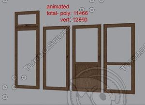 balcony doors 3d max