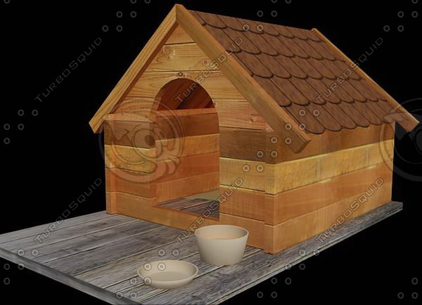 3ds max dog kennel 01