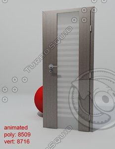 3d door porta space line model