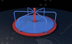 playground roundabout 3d c4d