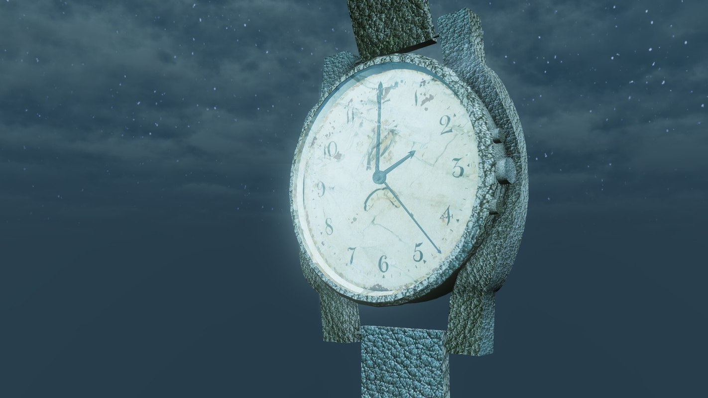 3d antique watch