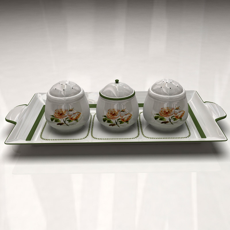 spices container materials 3d 3ds