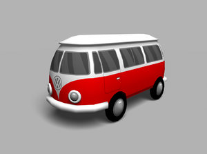3d model style toy van