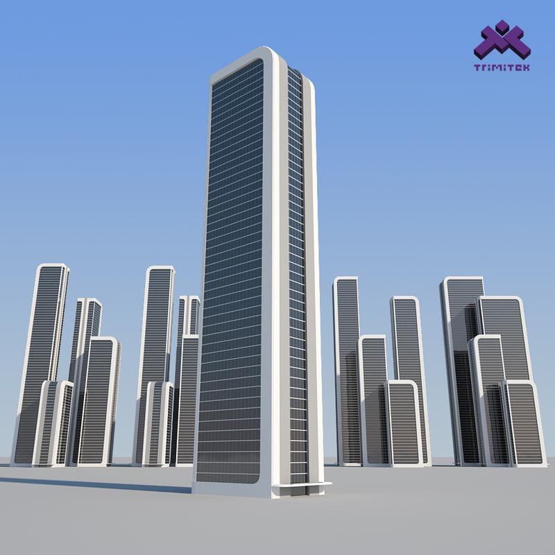 futuristic sci-fi skyscraper 3d max