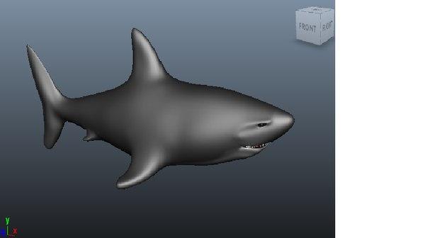 3d great white shark