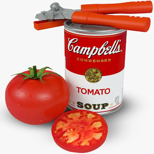 campbell tomato soup 3d fbx