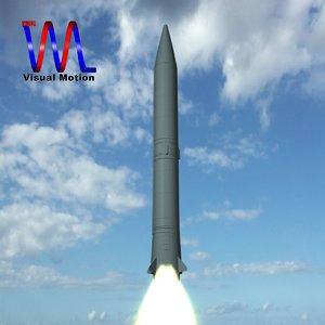 soviet ss-5 skean missile 3d model