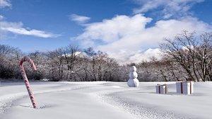 3d model snow landscape