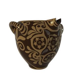 3d model vase kamares antique