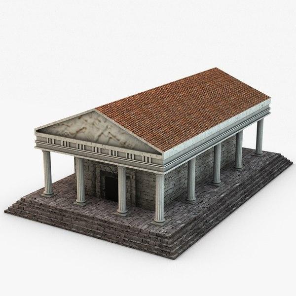 ancient temple 3d 3ds