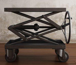 industrial scissor lift table 3d max