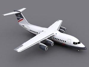 bae 146-200 avro rj85 3d max
