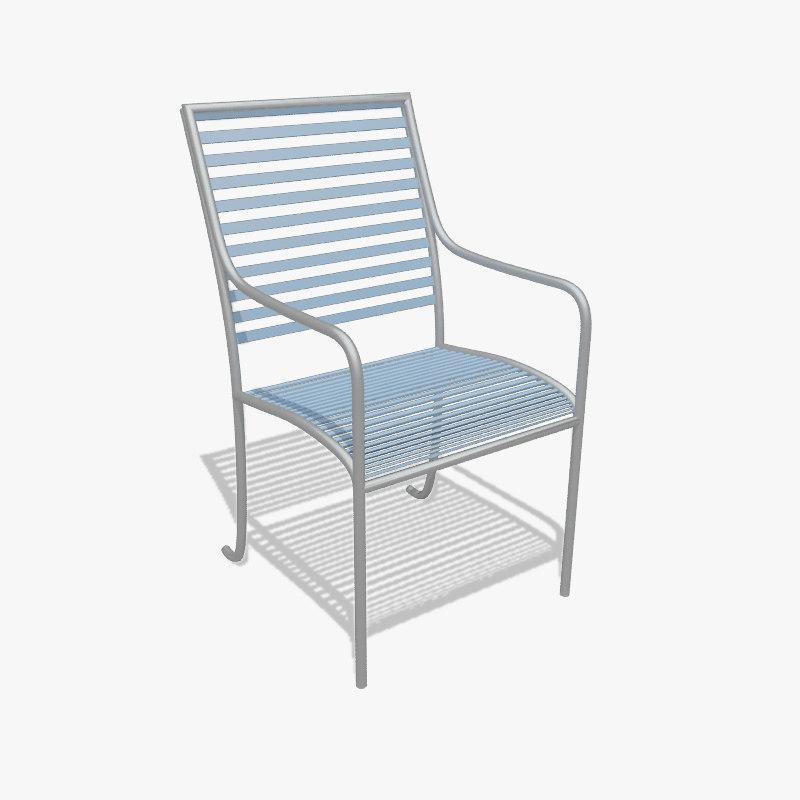 3dsmax simple chair