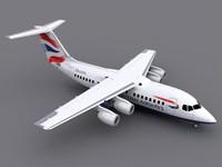 bae 146-200 avro rj85 3d model